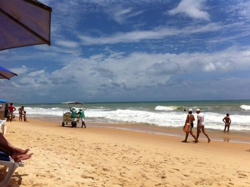 carrinhos na praia