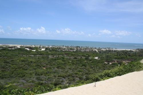 o mar visto das dunas